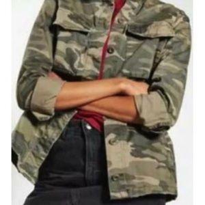 NWT Sanctuary Camo 4 Pocket Shaket Jacket Shirt